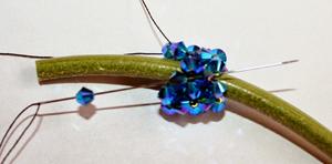 bőr fülbevaló swarovski gyöngyökből